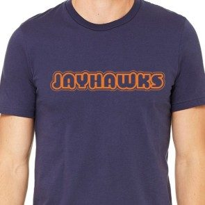Jayhawks Orange Logo T