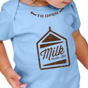 Baby Blue Milk Carton Onesie