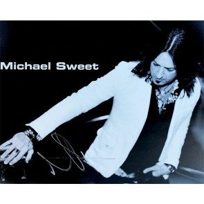 Michael Sweet Autographed Black and White 8 X 10