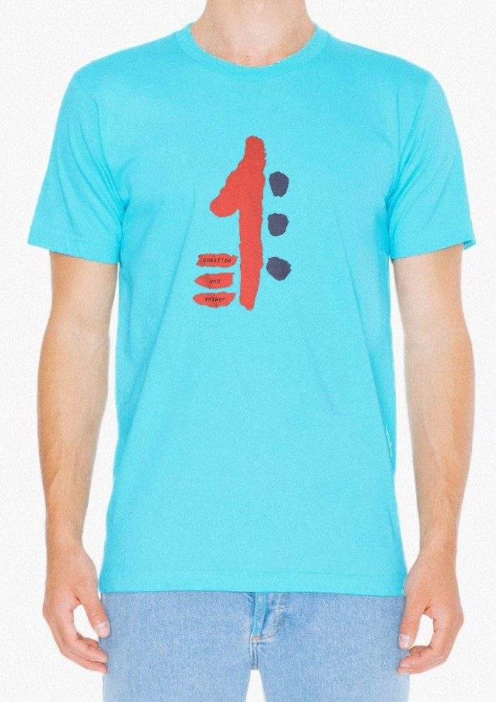 Question and Answer Vintage T-Shirt Aqua
