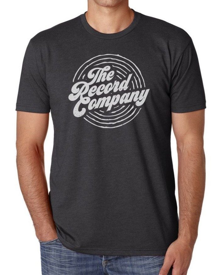 The Record Company Circle Logo Charcoal T