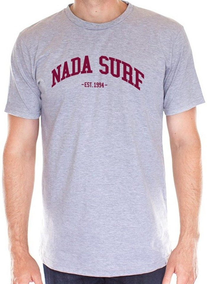 Nada Surf Collegiate Logo Heather Gray T