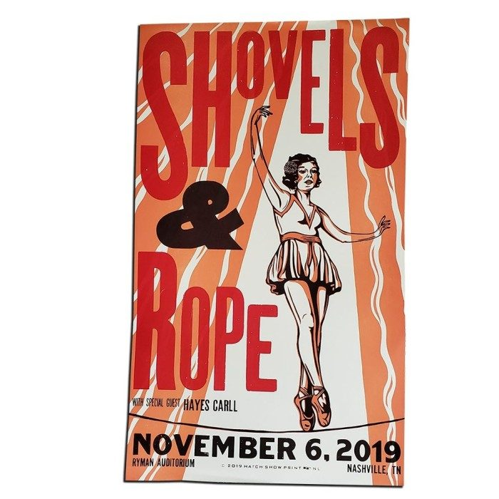 POSTER: Shovels & Rope - Ryman Auditorium - Nov. 6, 2019