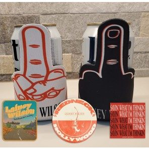 Middle Finger Can Kooler and Sticker Pack