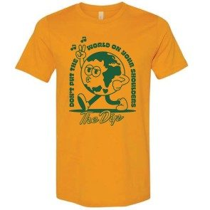 Don't Put The World On Your Shoulders Lyric  T-Shirt  - Mustard