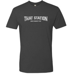 That Station Music & Community First T-Shirt - Heavy Metal Grey