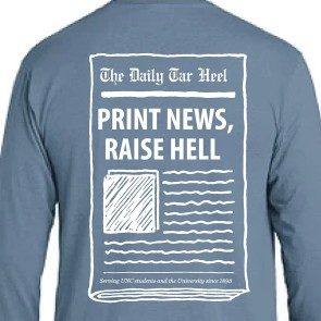 Print News, Raise Hell Long Sleeve Pigment-Dyed T-Shirt