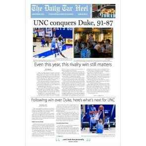 UNC Conquers Duke edition - Feb. 8, 2021 (2 copies)