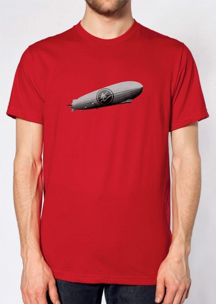 Zeppelin Over China Unisex T