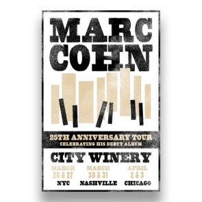 Marc Cohn - 25th Anniversary Tour Poster