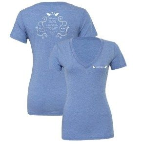 True Companion Women's V-neck Blue