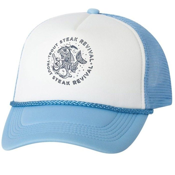Trout Steak Revival Light Blue Foam Front Trucker Hat