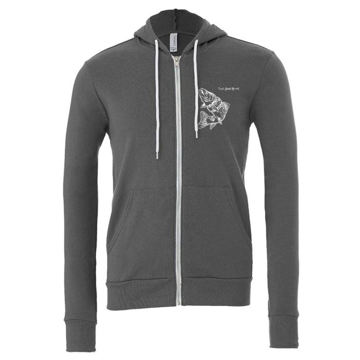 Trouth Steak Revival Zip Hoodie, Asphalt