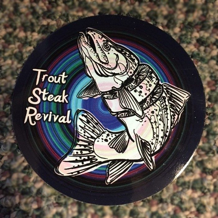 Trout Steak Revival Fish Logo Sticker