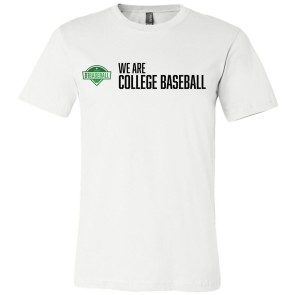 We Are College Baseball T-Shirt - White
