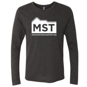 Long Sleeve Mountains to Sea Trail T, Vintage Black