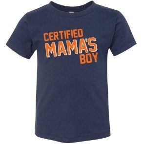 """Certified Mama's Boy"" Navy Toddler T"