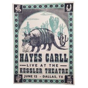 POSTER: Hayes Carll - Dallas, TX - June 12, 2021 (Autographed)