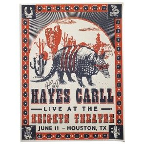 POSTER: Hayes Carll - Houston, TX - June 11, 2021 (Autographed)