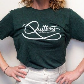 Quitters Green T