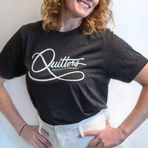 Quitters Gray T