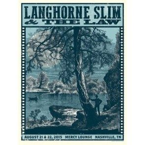 POSTER - Langhorne Slim & The Law August 2015 Nashville Poster
