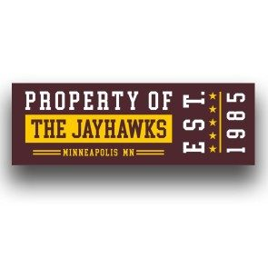 Rectangle Property of The Jayhawks Sticker