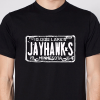 Jayhawks License Plate T, Black