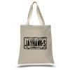 Jayhawks License Plate Tote