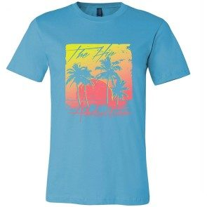 Turquoise Palm Trees T