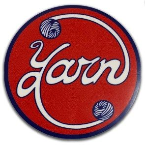 Circular Yarn Logo Sticker