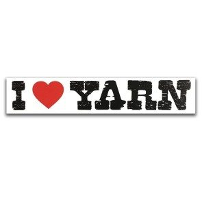 I Heart Yarn Sticker