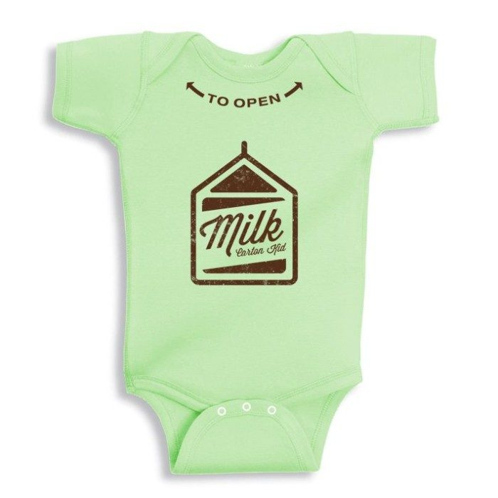 Baby Green Milk Carton Onesie