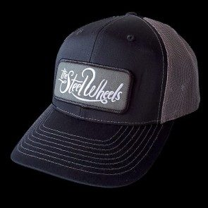 The Steel Wheels Black and Grey Trucker Cap