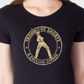 Women's Gold Circle Logo T