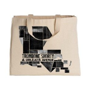 Louisiana Woodblock Canvas Tote