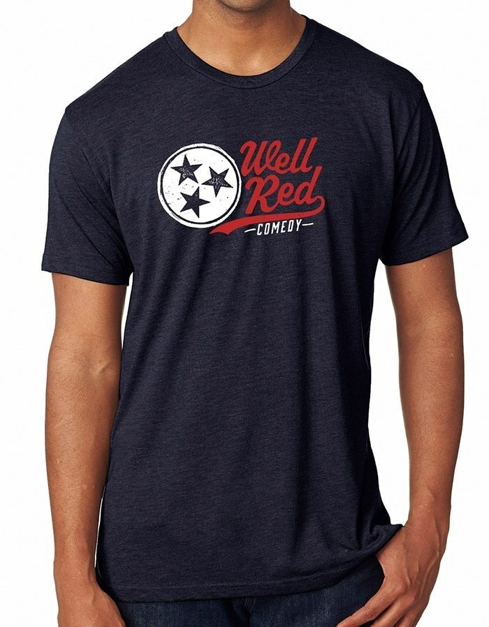 wellRED Comedy T, Vintage Navy