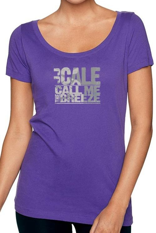 Women's Scoop Neck Block Logo T
