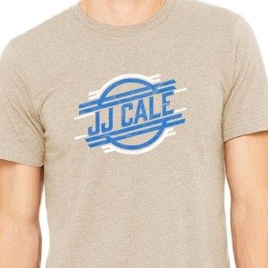 JJ Cale Retro Logo Heather Tan T