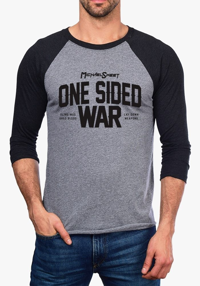 One Sided War Baseball T
