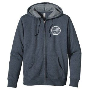 Single Wheel Zipper Hoodie