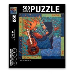 Wood, Fire, Water and Air Album Art Puzzle