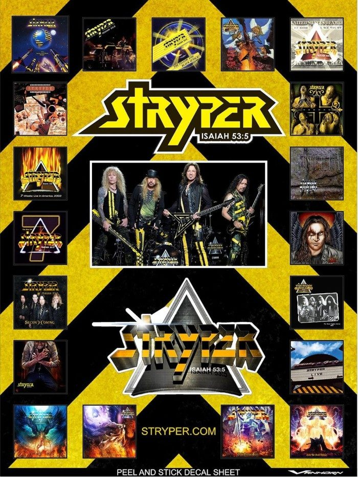 Stryper Jumbo Decal Sheet