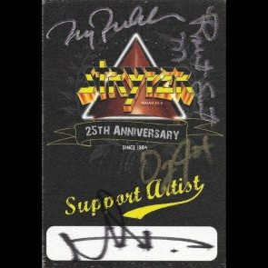 Autographed Pass #9 - 25th Anniversary Tour Support Artist