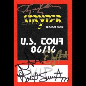 Autographed Pass #8 - 30th Anniversary Tour Backstage