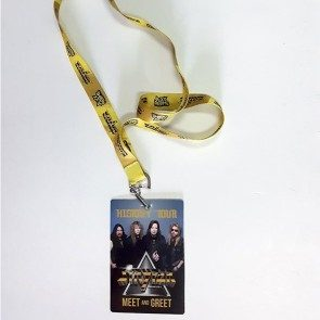 Souvenir History Tour Meet and Greet Pass & Roxx Regime Lanyard