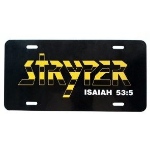 Stryper Logo License Tag