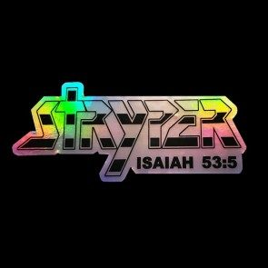 Stryper Die Cut Prismatic Sticker