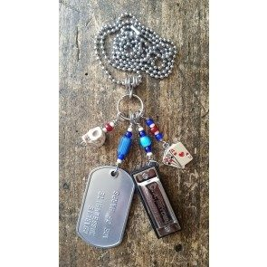 "Ace of Harps ""Lucky Hand"" Dog Tag Necklace"