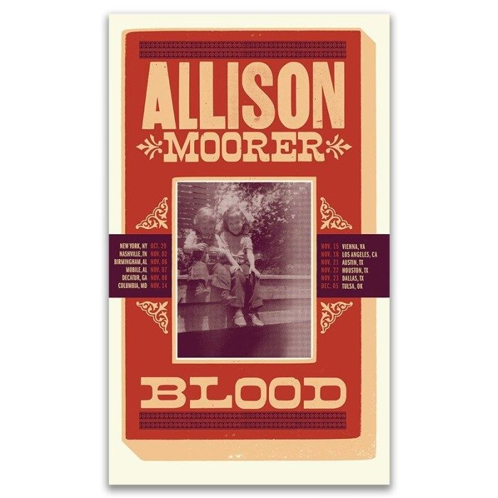 Blood Tour Poster [AUTOGRPAHED Copies Available)